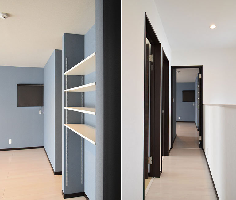 天板の位置を変えられる収納棚